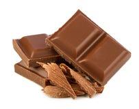 Cioccolato al latte Immagini Stock