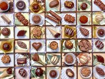 Cioccolato Assorted Fotografia Stock