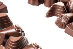 Cioccolato Assorted su bianco Fotografia Stock Libera da Diritti