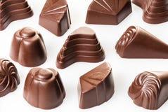Cioccolato Assorted su bianco Immagini Stock Libere da Diritti