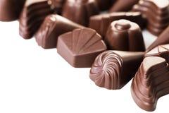 Cioccolato Assorted su bianco Fotografia Stock