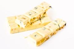 Cioccolato bianco Immagini Stock