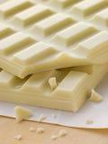 Cioccolato bianco Fotografia Stock Libera da Diritti