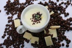 Cioccolato bianco caldo Immagine Stock