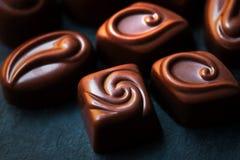 Cioccolato Candy, cacao L'assortimento del cioccolato fine si chiude su Fotografie Stock Libere da Diritti