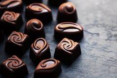 Cioccolato Candy, cacao L'assortimento del cioccolato fine si chiude su Fotografia Stock