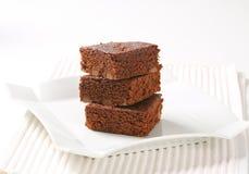 Cioccolato Chip Brownies Fotografia Stock Libera da Diritti