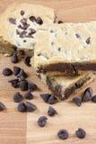 Cioccolato Chip Cookie Bars Fotografia Stock Libera da Diritti