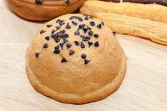 Cioccolato Chips Coffee Bun fotografie stock libere da diritti