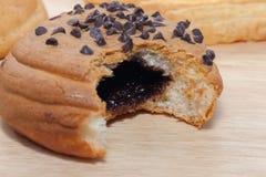 Cioccolato Chips Coffee Bun fotografia stock libera da diritti
