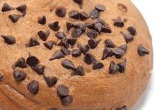 Cioccolato Chips Coffee Bun su bianco immagine stock libera da diritti