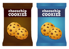 Cioccolato Chips Cookie Snack Packaging Vector Fotografia Stock