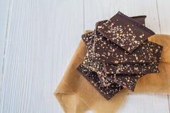 Cioccolato con differenti additivi Fotografie Stock Libere da Diritti