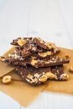 Cioccolato con differenti additivi Immagine Stock