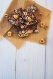 Cioccolato con differenti additivi Immagini Stock Libere da Diritti