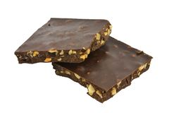 Cioccolato con i dadi Fotografia Stock Libera da Diritti