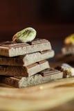 Cioccolato con i pistacchi Fotografia Stock