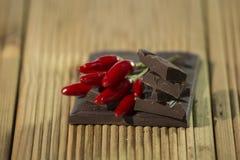 Cioccolato con il cili Fotografia Stock
