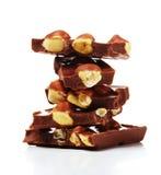 Cioccolato con le noci Immagine Stock Libera da Diritti
