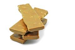 Cioccolato con le noci Fotografia Stock