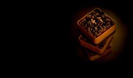 Cioccolato del Belgio impilato Fotografia Stock Libera da Diritti