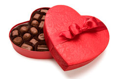 Cioccolato del biglietto di S. Valentino Fotografie Stock