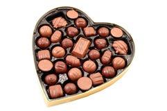 Cioccolato del biglietto di S. Valentino immagine stock