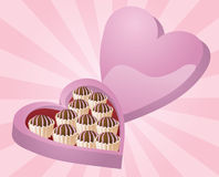 Cioccolato del biglietto di S. Valentino Immagine Stock Libera da Diritti