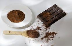 Cioccolato del cacao del cacao fotografia stock libera da diritti