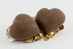 Cioccolato del cuore Fotografia Stock Libera da Diritti