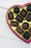 Cioccolato del giorno del biglietto di S. Valentino Immagini Stock