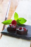 Cioccolato del lampone Fotografia Stock Libera da Diritti