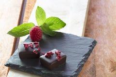 Cioccolato del lampone Fotografia Stock