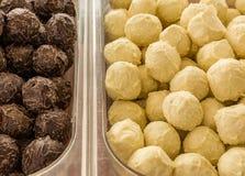 Cioccolato delizioso dei tartufi fotografia stock libera da diritti