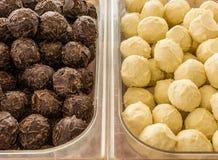 Cioccolato delizioso dei tartufi fotografia stock