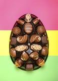 Cioccolato dell'uovo di Pasqua Fotografia Stock Libera da Diritti