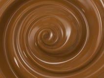 Cioccolato della colata di turbinio Fotografia Stock