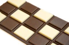Cioccolato della lastra fotografia stock