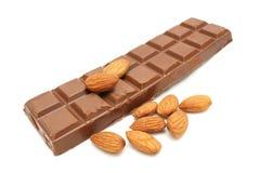 Cioccolato della mandorla Fotografie Stock