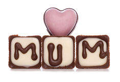 Cioccolato della mummia di amore Fotografia Stock