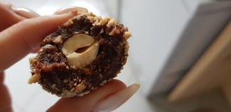 Cioccolato della nocciola di Bombom immagine stock libera da diritti