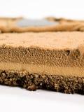 Cioccolato della torta decorato con l'estratto Fotografie Stock Libere da Diritti