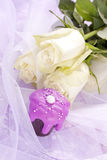 Cioccolato dentellare zuccherato di cerimonia nuziale Immagini Stock