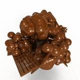 Cioccolato di fusione Immagine Stock Libera da Diritti
