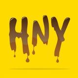 Cioccolato di fusione 'HNY' Fotografia Stock Libera da Diritti