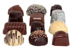 Cioccolato di lusso 4 immagini stock
