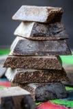Cioccolato di Modica (chocolate de pizcas) Fotos de archivo