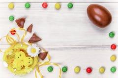 Cioccolato di Pasqua Fotografie Stock Libere da Diritti