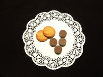 Cioccolato e biscotti Immagini Stock Libere da Diritti