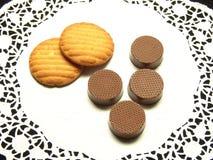 Cioccolato e biscotti Immagine Stock Libera da Diritti